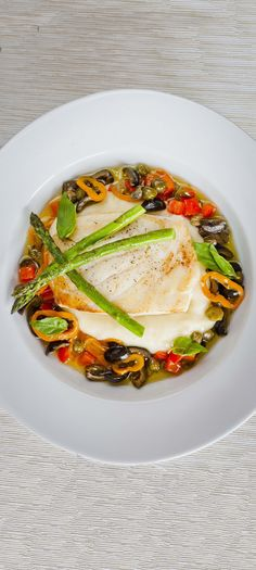 Halibut with Goat's Cheese Mash - Tender halibut and smooth creamy mash with lovely sharp flavours from the capers, olives and peppers - http://www.fishisthedish.co.uk/recipes/main-meals/1423-halibut-with-goat-s-cheese-mash