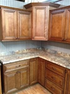 glazed oak cabinets