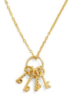 Keys to the Queendom Necklace $12.99 Modcloth