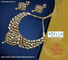 A necklace can elevate an outfit effortlessly. Now, you don't have to worry about visiting a brick and mortar jeweler, when you can buy necklace via online shopping at Voylla. Here, you will find each #necklace #set with the price so that you can buy the exquisitely designed necklace in your budget. You will be amazed at the high-quality craftsmanship and trendy designs that are on offer by Voylla. So, if you are looking for exclusive necklaces for women, your search would end at Voylla…