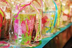 Favors at a Lilly Pulitzer Party #lillypulitzer #partyfavors