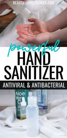 How to make Hand Sanitizer with only 3 ingredients! - No way to wash your hands? Make this effortless and powerful homemade hand sanitizer. Homemade Hand Soap, Peppermint Plants, Household Tips, Household Products, Homemade Cleaning Products, Pressure Washing, Healthy Living Tips, Hand Sanitizer, Cleaning Hacks