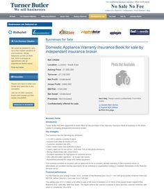 business for sale domestic appliance warranty insurance book for sale by independent insurance broker ref