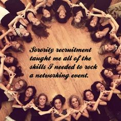Networking, Sorority Style: How Floating in College Helps You Network Now Sigma Alpha Omega, Tri Delta, Alpha Sigma Alpha, Sigma Kappa, Kappa Delta, Phi Mu, Sorority Rush, Sorority Life, Cute Sister Pictures