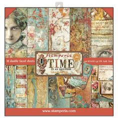 Stamperia Paper Pad 12x12 - Time is an Illusion 10 sheets