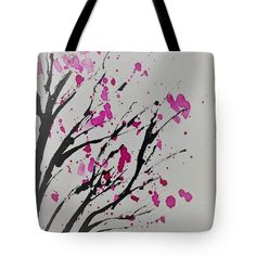 Blossom Branch Tote Bag by Britta Zehm. The tote bag is machine washable, available in three different sizes, and includes a black strap for easy carrying on your shoulder. All totes are available for worldwide shipping and include a money-back guarantee.