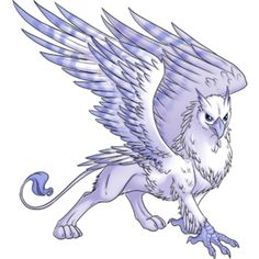 Flurries Gryphon from Celestial Vale, one of my favorite games which is now closed, although the owner is working on another site which may feature this art. Mystical Animals, Mythical Creatures Art, Alien Creatures, Mythological Creatures, Gryphon Tattoo, Mythical Dragons, Mythology Tattoos, Animal Sketches, Dragon Art