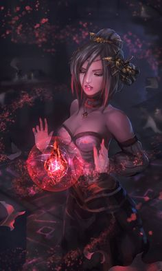 ArtStation - Blood Crystal Witch, Yong Hui Ng