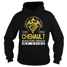 CHENAULT Blood Runs Through My Veins (Dragon) - Last Name, Surname T-Shirt