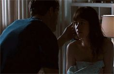 """Anastasia, you should steer clear of me. I'm not the man for you."" awww Jamie Dornan and Dakota Johnson Fifty shades of grey movie"