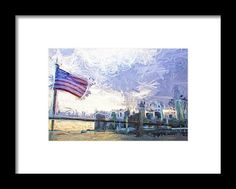 Flag On The City Framed Print By Alice Gipson