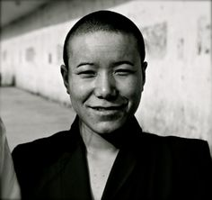 A nepalese female monk in New Delhi