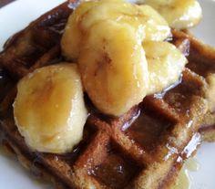 Banana Bread Waffles; thank you Mr. Foster