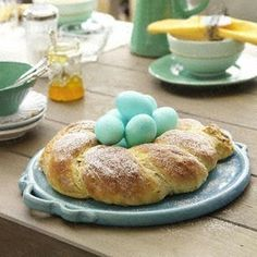 German Easter Bread -- called Osterkranz (Easter wreath) or Osterzopf (Easter bread).