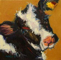 diane whitehead canvas prints | Diane Whitehead » ARTOUTWEST DAILY PAINTING OCTOBER 17 BABY COW SWEET
