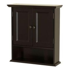 Zenith Collette 21.50 in W x 24 in H Wall Cabinet in Espresso-9918CHA at The Home Depot REALLY like this one!