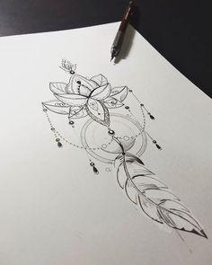 Peça montada para tatuagem da cliente @danielajso fazendo referência ao crescimento e o florescimento da sua fé. Arte registrada. Www.kefonascimento.com.br