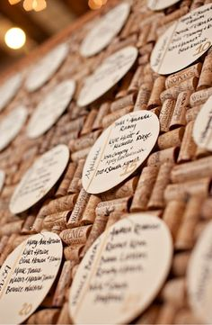 Cork board out of wine corks