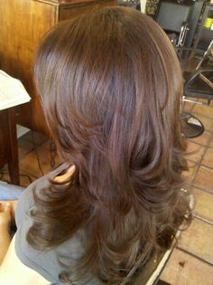 Gorgeous cut. #brunette #layers