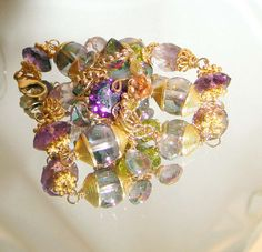 Reserved for Lyndell  pink amethyst purple amethyst by CAPGEMS2, $120.00