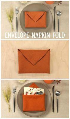 DIY Envelope Napking Folding Tutorial