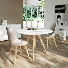 Elan Legno Round Extending Dining Table - DINING TABLE - FURNITURE - DINING ROOM