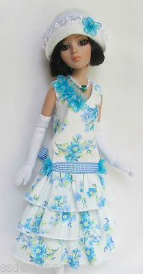 """OOAK LADY AMBER'S COOL SUMMER BLUES... FOR 16"""" ELLOWYNE, by ssdesigns via eBay SOLD 7/28/13  $146.49"""