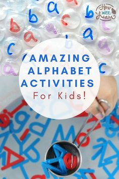 These awesome alphabet activities for preschoolers are so much fun for kids. They are full of learning in a hands on play way. Lots of great ideas for introducing letters and sounds to children in this post! Teaching The Alphabet, Learning Letters, Fun Learning, Educational Activities For Preschoolers, Alphabet Activities, Preschool Alphabet, Teaching Letter Recognition, Literacy, Hands