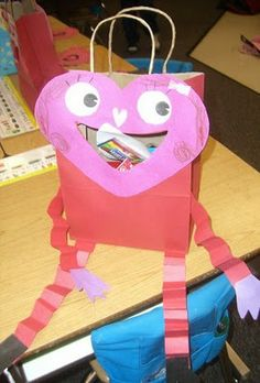 love monster bags for valentines day school valentines day pinterest monsters - Valentine Bags For School