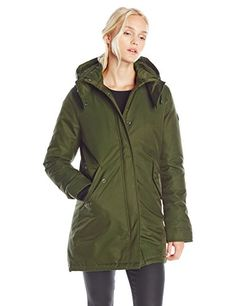 Spiewak Womens Aviation Eskimo Parka Olive Medium *** Click image for more details. (Note:Amazon affiliate link)