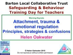 """Poor attachments, trauma, developmental delay can cause children act in apparently """"nonsensical ways"""" which can make managing classrooms very tricky. Seeing ch…"""