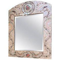Mid-Century Modern Micro Mosaic Porcelain Tile Mirror
