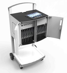 The CartiPad Uno combines our CartiPad Solo security charging cabinet with our CartiPad Cart for a  sc 1 st  Pinterest & 21 best Tablet Storage and Charging images on Pinterest | Tablet ...