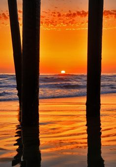 hodgeandpodge:  Reflections at Oceanside Pier at Sunset - by Rich Cruse