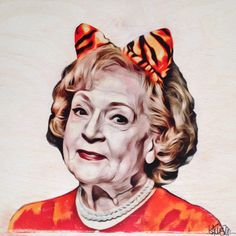 Betty White   12x12 Print Of Original Art   100lb White Cardstock (Original  Done On