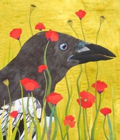 Magpie in Poppies- Kate Gorman