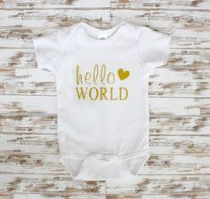 A personal favorite from my Etsy shop https://www.etsy.com/listing/250987724/hello-world-gold-glitter-vinyl-heart