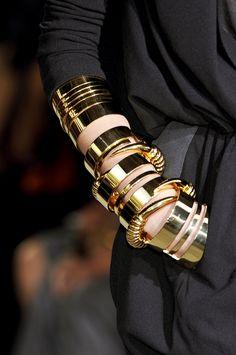 golden bracelets..