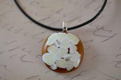 Amber Pendant  FUSED GLASS JEWELRY  Vanilla by BillyandPurts