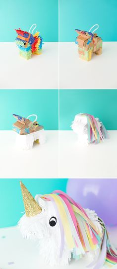 Let loose with adorbs DIY unicorn piñatas!
