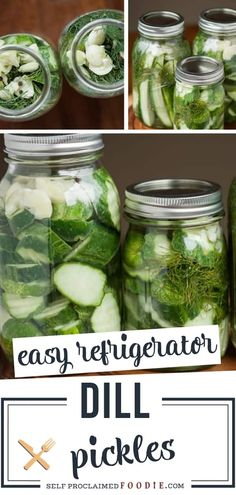 Easy Refrigerator Dill Pickles take only a few minutes to make. Once you make your own homemade dill pickles, you'll never buy store bought again. Homemade Refrigerator Pickles, Homemade Pickles, Pickles Recipe, Refridgerator Pickles Dill, Making Dill Pickles, Refrigerator Pickle Recipes, Canning Pickles, Garlic Dill Pickles, Pickled Garlic