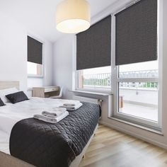 'Bloc' Zinc Blackout Blind - Premium Roller blinds great for bedrooms or sitting rooms. www.makeablind.co.uk Blog