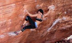 Tied to the Whipping Post [V6] - Red Rocks #climbing #bouldering (Natalie Duran)