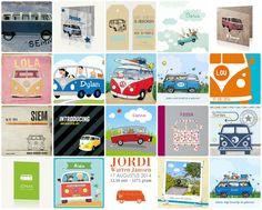 Op zoek naar een geboortekaartje met een Volkswagen bus erop? Zoek niet verder, 20 x Volkswagen bus geboortekaart vind je hier verzameld.