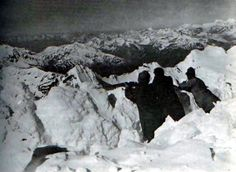 Austro-Hungarian trench at the peak of Ortler (Alps) during first world war 1917.