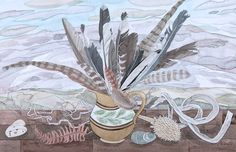 Angie Lewin - Ben Rinnes Jug with Feathers http://www.angielewin.co.uk/products/ben-rinnes-mug-with-feathers