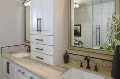 Ample storage in this #Ensuite #Vanity featured in the Rembrandt by @Baywest Homes