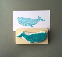 """handgeschnitzter Stempel """" Wal Fisch"""" von Arteck auf DaWanda.com"""