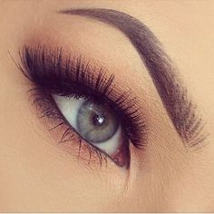 False eyelashes really flatter hooded eyes. They visually widen and open up the eye. And I love her brows!