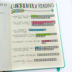 How I keep track of what I'm currently reading in my Bullet Journal!